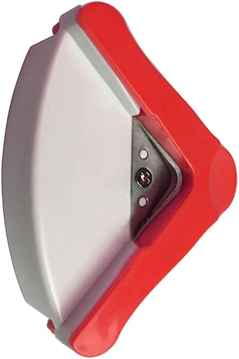 Sothat R5 mm Redondeador Redondo esquina recortar papel perforadora tarjeta de fotos cart/ón cortador herramienta manualidades azul blanco color Rojo y blanco.