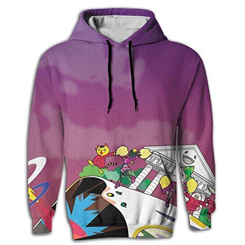 HUANLESONG Kanye West Bear Hoddies Big Pockets Drawstring Hooded Sweatshirt Style Hoddie For Mens - West Kanye Style