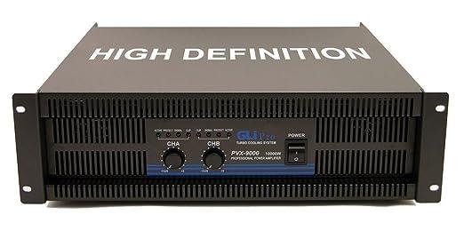 Amazon.com: GLI Pro PVX9000 10,000 Watt Power Amplifier DJ Rack Amp + XLR Cable: Musical Instruments