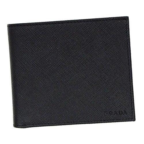 (プラダ) PRADA 財布 二つ折り メンズ NERO ブラック SAFFIANO レザー 2mo738-53-f0002 ブランド [並行輸入品] B01E58I4AK