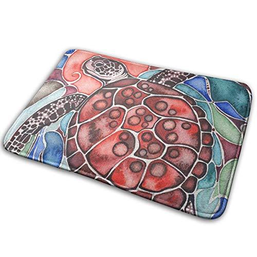 - OLOSARO Doormat Indoor Sea Turtle Tamara Phillips Home Kitchen Bathroom Outdoor Entrance Non-Slip Novelty Cute Funny 23.6
