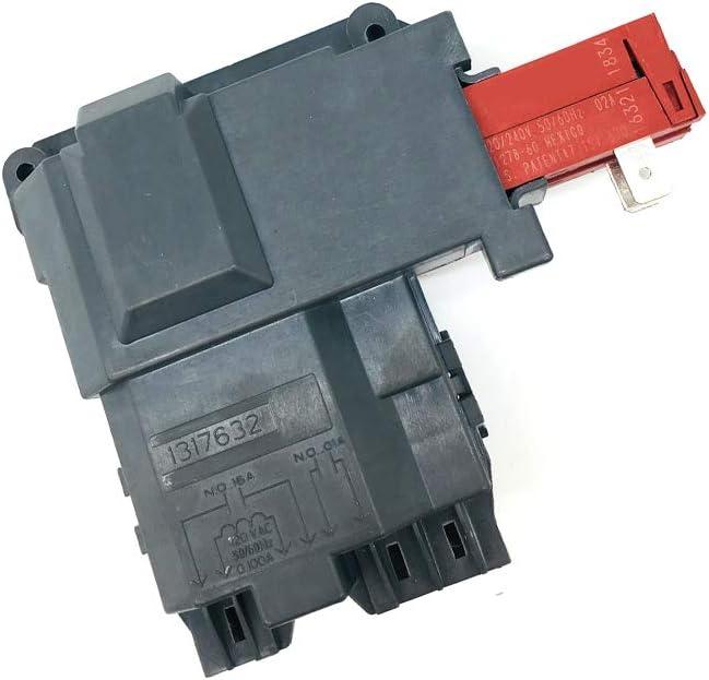131763202 Washer Door Lock Switch for Frigidaire Electrolux Kenmore Crosley Washing Machine, Replace 131763256 131763255 131269400 131763245 131763200 AP4455026 FAFW3801LW3 FAFW3511KW0 Door Lock