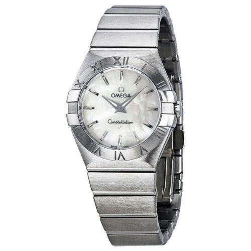 Omega Women's 12310276005001 Constellation Analog Display Swiss Quartz Silver Watch