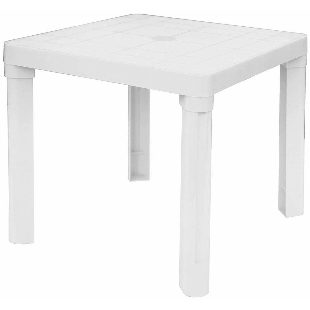 GBSHOP Tavolino basso bianco in plastica per interno/esterno giardino e piscina IGAP - GRANDSOLEIL