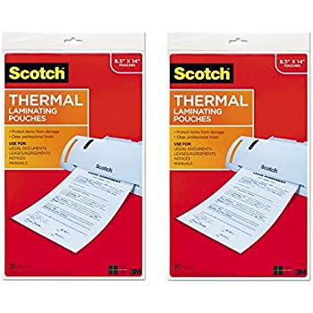 Amazon.com: Scotch - Bolsas térmicas para plastificar, 8.5 x ...