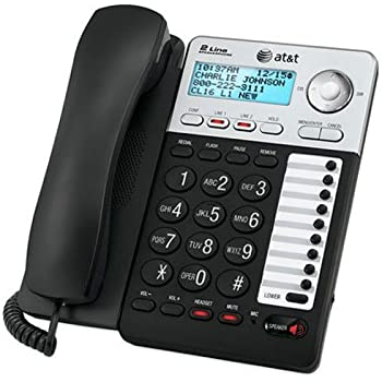 at t corded phone with digital answering system white cl4939 low vision. Black Bedroom Furniture Sets. Home Design Ideas