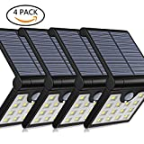 Aluvee Solar Step Wall Lights Outdoor,4 Pack 14 LED Fold Motion Sensor IP65 Waterproof Wall Lighting Security Wireless for Yard Wall Porch Patio Path Fence
