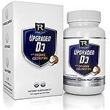Upgraded Vitamin D3 2000 IU W/Organic Coconut Oil - Vegetarian Vitamin D Soft Gel Supplement