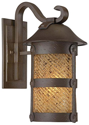 Minka Lavery 9252-A199-PL 1 Light Outdoor Wall Mount, Forged Bronze ()