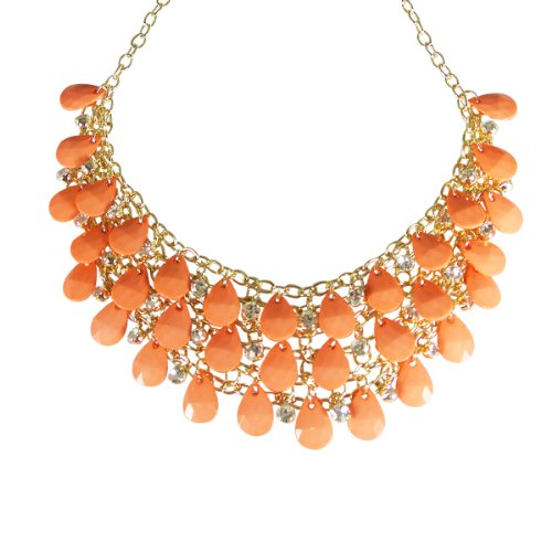 Wrapables Multilayer Crystal Bubble Necklace