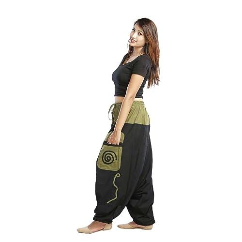 Pantalón Harem o Harén, Bombocho, Pantalones Aladin, para Mujeres y Hombres, moderno y alta calidad 100% Algodón