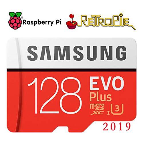 Raspberry Pi Retropie 128GB Preloaded Games MicroSD Card, Fast Class 10, Works with Pi 3 Model B+ (Plus), Model B, Pi 3 Model A+, Pi 2 etc (Preloaded Micro Sd Cards)