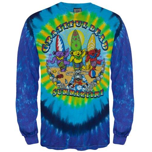 (Liquid Blue Men's Beach Bear Bingo Long Sleeve T-Shirt, Tie Dye, XX-Large)
