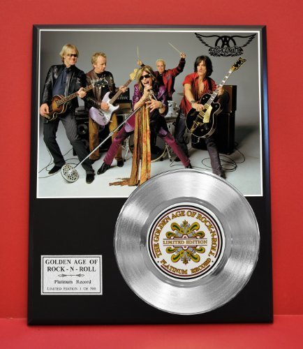 Aerosmith Limited Edition Platinum Record Plaque - Award Quality Display - Music Memorabilia - from Gold Record Outlet