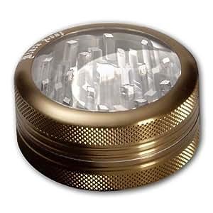 Grinder Con Ventana Sharpstone® 2 Piezas - Bronce - Moledor Crusher Ø63mm H25mm - PatchouliWorld