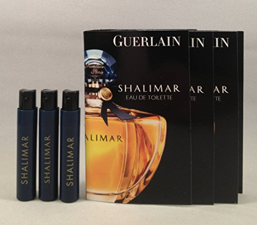 3 Guerlain Shalimar EDT Spray Sample Vial .03 Oz/1 Ml for Wo
