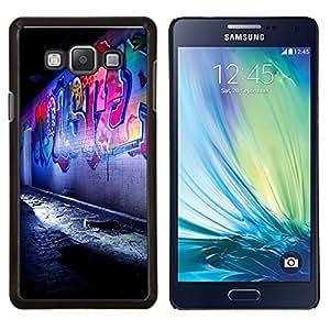 YiPhone /// Prima de resorte delgada de la cubierta del caso de Shell Armor - Street Art Graffiti Night Street Ciudad - Samsung Galaxy A7 A7000