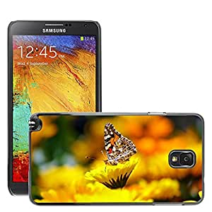 GoGoMobile Etui Housse Coque de Protection Cover Rigide pour // M00123680 Mariposa Insectos Animales Morpho // Samsung Galaxy Note 3 III N9000 N9002 N9005