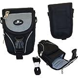 Case4Life Black/Grey Large Digital Camera and Accessory Case for Sony Cyber-shot DSC-HX, DSC-H, DSC-J, DSC-TX, DSC-WX, DSC-W Series - Lifetime Guarantee