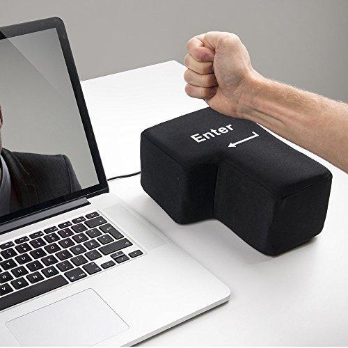 Funtoyworld Creative Multi-Function USB Super Sized Big Enter Key Comfortable Economic Desktop Pillow Anti Stress Punch Bag (Enter Key)
