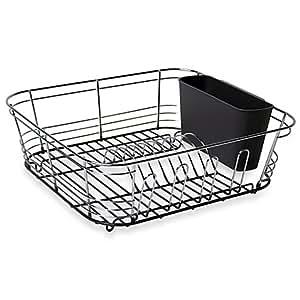 Amazon Com Omni Small Chrome Dipped Dish Drainer In Grey