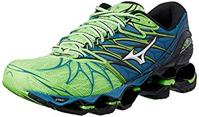 Mizuno Men's Wave Prophecy 7 Shoes, Green Gecko/Silver/Blue Sapphire, 9 US