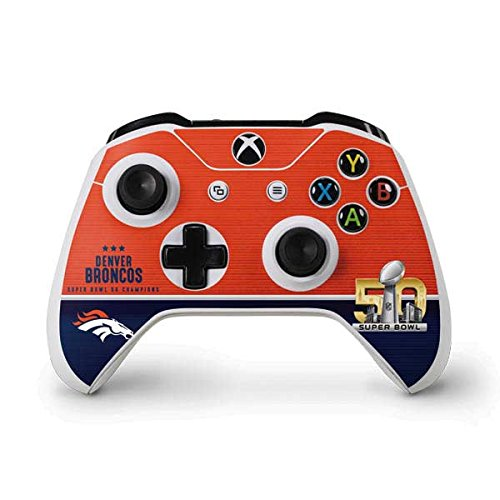 Skinit Denver Broncos Super Bowl 50 Champions Xbox One S Controller Skin - Officially Licensed NFL Gaming Decal - Ultra Thin, Lightweight Vinyl Decal Protection