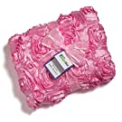 "Ultra Soft Baby Blanket - Satin Rose 30""x40"" - Little Giggle Bug - Great Gift (Pink)"