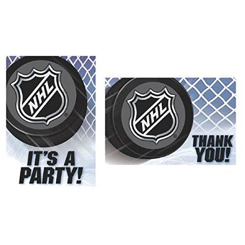 [Sports and Tailgating NHL Party NHL Ice Time! Invitation & Thank You Card Set , Paper, 3