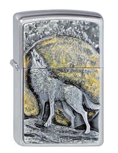 (Zippo 1300003聽Lighter Lighter Logo Parent Wolf at Moonlight)