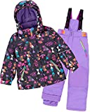 Deux par Deux Girls' 2-Piece Snowsuit Confetti Garden Purple, Sizes 4-14 - 10