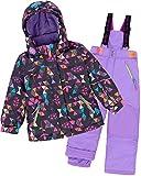 Deux par Deux Girls' 2-Piece Snowsuit Confetti Garden Purple, Sizes 4-14 - 10