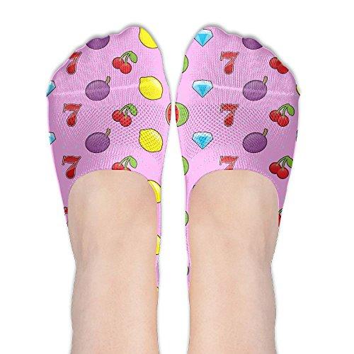 Slot Machine Fruit (DGYEG44 Slot-machine Womens Cotton Boat Socks Ankle Socks Sports Socks Fashion)