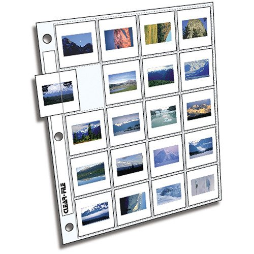 Clear-File Archival-Plus Slide Page, 35mm - 100 Pack ()