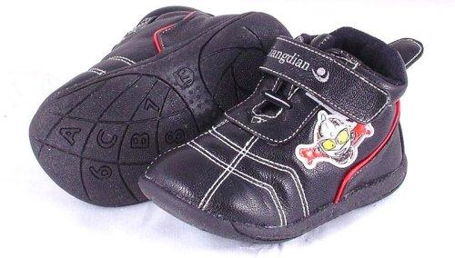 Nero in Pelle per scarpe Liangdian chiusura in velcro taglia 140o Taglia 2(circa 3–6mesi)