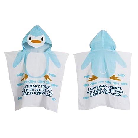Encantador Bebé Animal Toalla Playa Ponchos encapuchados baño toalla de baño (Penguin)