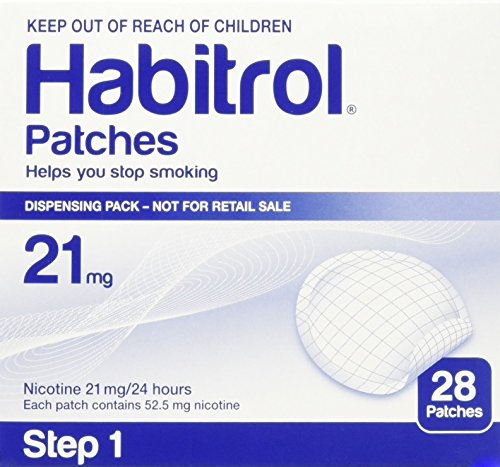 Habitrol Novartis Nicotine Transdermal System Stop Smoking Aid Patches - 28 Each (Step 1 - 21 Mg) - Replacement Nicotine