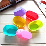 Wholesale!!! Set of 12 Reusable Cupcake silicone mold, with three decorative pens for DIY baking bread cake cookie, in Vibrant Colors in Storage Container - Muffin, Gelatin, Snacks, Frozen Treats, Ice Cream or Chocolate Shell-lined Dessert Molds - BPA Fre