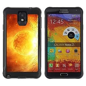 "Pulsar iFace Series Tpu silicona Carcasa Funda Case para SAMSUNG Galaxy Note 3 III / N9000 / N9005 , Sun Star Magma Arte Fuego Amarillo Rojo Apocalypse"""