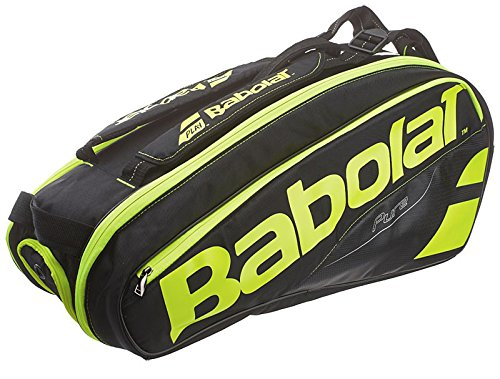Babolat Pure Tennis Racquet Holder x6, Black/Yellow