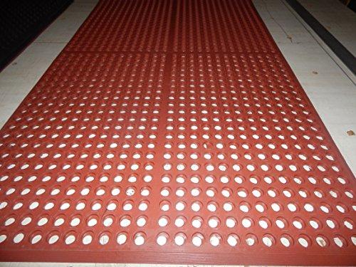 Heavy Duty Floor Mat Anti Fatigue Kitchen Bar Rubber Drainage Red 36
