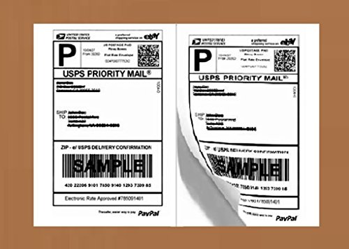 Half Sheet Self Adhesive Shipping Labels for Laser and Inkjet Printers (600 labels, Pack Of 3)