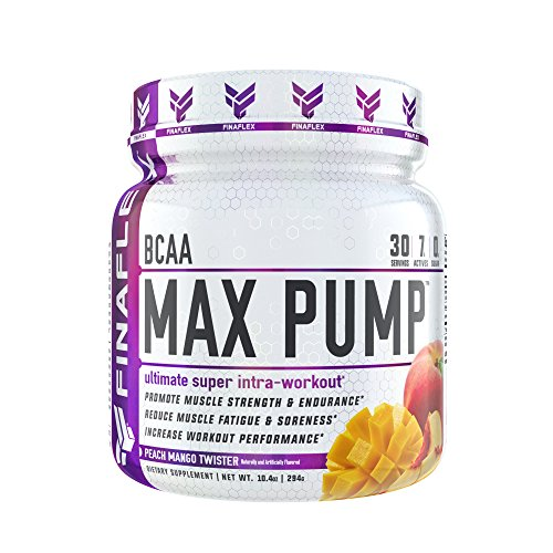 BCAA Max Pump, 30 Servings, Branched Chain Amino Acids Plus Pump, Increase Strength, Endurance, and Blood Flow to Muscles, Extend Workouts, Pre Intra Post Workout (Peach Mango Twister)