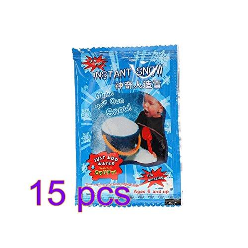 AlexGT 1/5/10/15/30/50pcs Artificial Snow Flake Decor Fake Magic Instant Snow Fluffy For Christmas Wedding White Snow Decoration by AlexGT