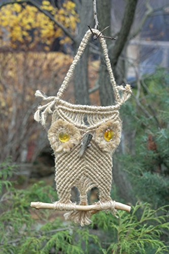 Homemade Interior Handmade Macrame Owl Home Decorating Ideas ()
