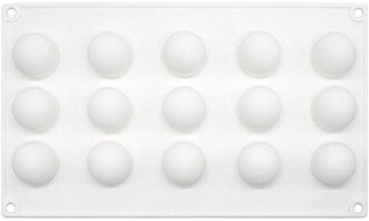 bestomz 15 rejilla molde de silicona forma balón para chocolate ...