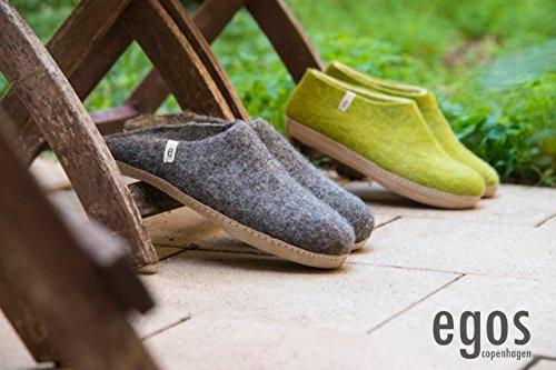 Egos  Simple, Herren Hausschuhe lindgrün 39 EU, schwarz - schwarz - Größe: natural grey