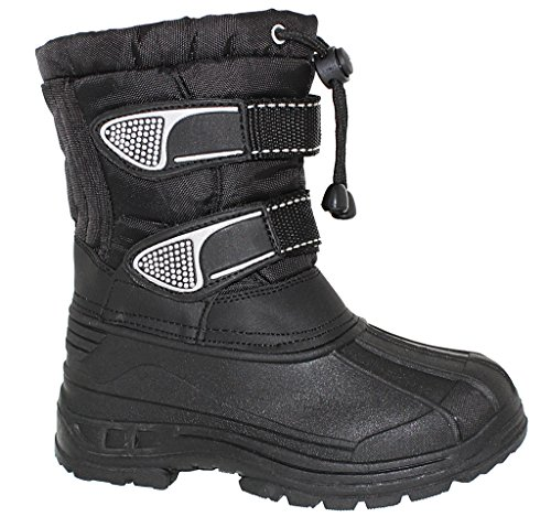 BIG BOYS Water Resistant Two Strap Boot with - Snow Boots Big Boys Size 6