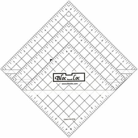 Bloc Loc - Half Square Acrylic Triangle Ruler Set #2, 2.5''4.5'',6.5'' by Bloc Loc