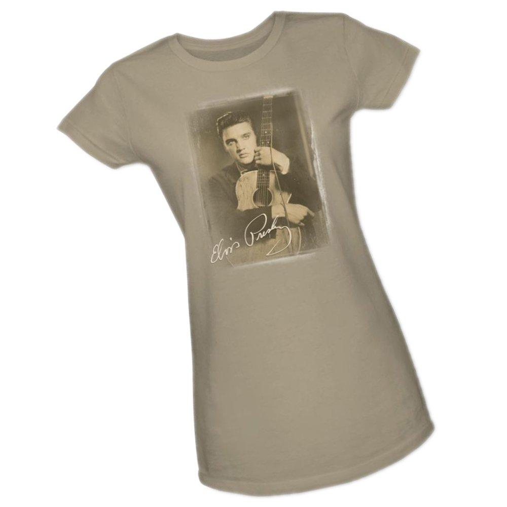 Guitarman Elvis Presley Crop Sleeve Ted Shirts